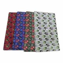 Traditional Kalamkari Floral Pattern Fabric