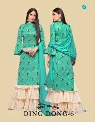 Ding Dong Vol 6 By Your Choice Jam Silk Sharara Style Salwar Kameez