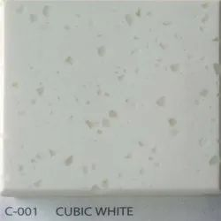Cubic White Acrylic Solid Surface