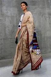 Bagru Batik Cotton Mulmul Saree