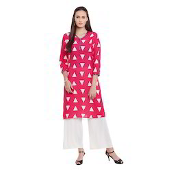 Beautiful Rayon Pink Kurti