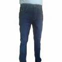 Blue Plain Mens Designer Jeans