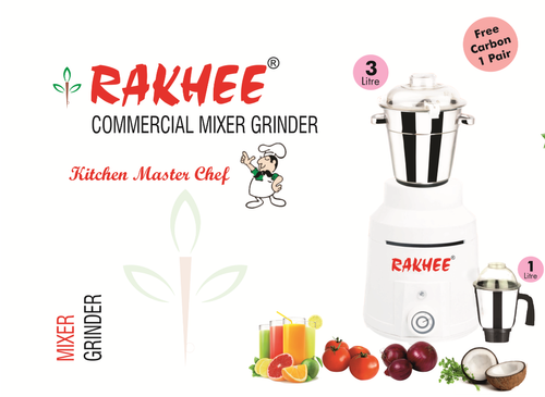 White 110 Volt Commercial Mixer Grinder 1200 Watt Rakhee for Kitchen