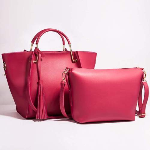 Ladies Plain Pink Designer Straw Bag 814c11aa0c75f