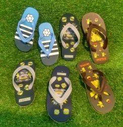 Rubber Daily Wear Beston Double Color Kids Slipper, Size: 6-10