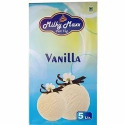 Milky Maxx Vanilla Ice Cream, Pack Size: 5 L, Packaging Type: Box