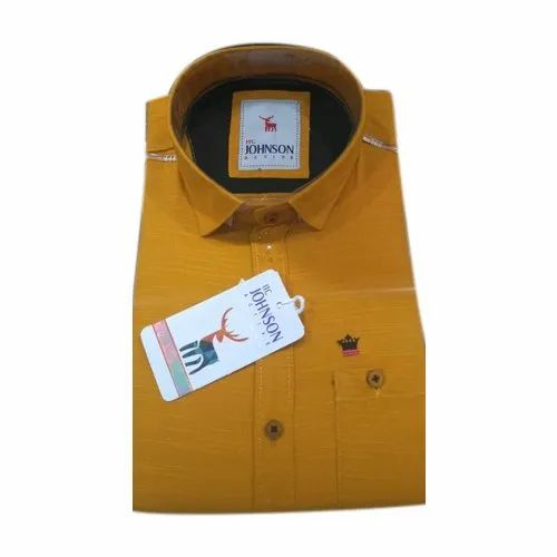 7d4199a3 Itc Johnson Mens Designer Plain Cotton Shirt, Rs 239 /piece | ID ...