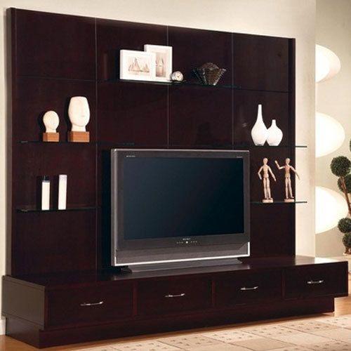 Brown Flat Screen Tv Wall Cabinet