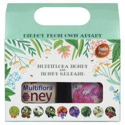 Combo Gift Pack of Multiflora Honey & Honey Gulkand 500g each