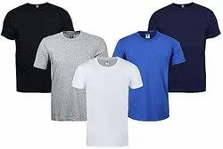 Cotton Plain Round Neck T Shirt 160 GSM