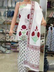 Block Printed Jaipuri Suit Set