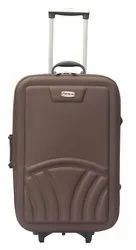 Polyester Brown Suitcase 24 inches, For Tour And Travel
