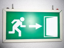 Emergency Exit Sign With Battery Back Up