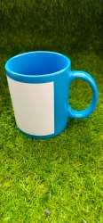 Ansh Enterprises Ceramic 11oz Sublimation Blue Patch Mug, Capacity: 300 mL