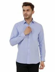 Light Blue Full Sleeve Plain Shirt