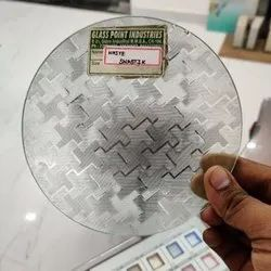 Etched Window Glass, Thickness: 8 mm