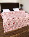 Hand Block Floral Printed Double Bed Cotton Duvet Cover