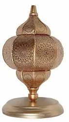 Aleeza Gold Metal Moroccan Style Table Lamp, for Home