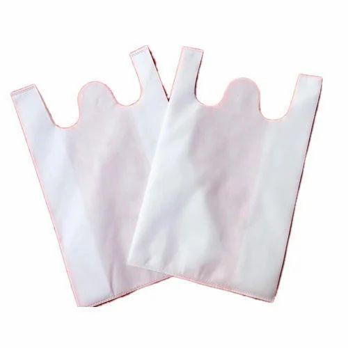 White Plain W Cut Non Woven Bag, Size: 14' x 17' , Bag Size: 14' x17'