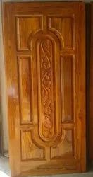 Interior Finished Teak Wood Doors, For Home, Size: 81x36