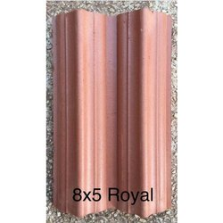 8x5 Inch Royal Clay Roof Tile