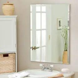Bathroom Glass Mirror, Size: 2 X 1.5 feet