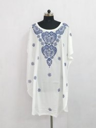 Hand Embroidered Chikankari Work Kaftans