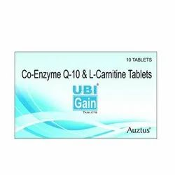 Coenzyme Q10 100 mg & Levocarnitine 500 mg Tablets, 10 Tablets, Packaging Type: Box