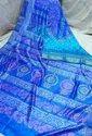 Acid Painted Murshidabad Silk Saree