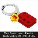 Premier Vinyl Coated Lockout Hasp - Single Locking