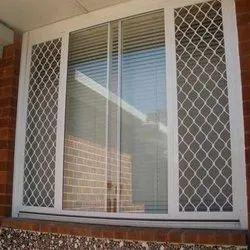 Exterior White Aluminium Window Grill