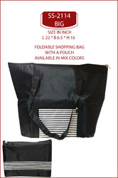 REXIN BLACK POUCH SHOPPING BAGS, Bag Size (Inches): L 22 * B 6.5 H 16