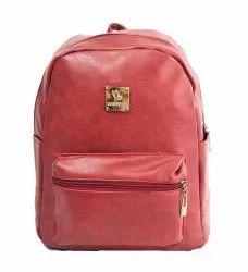 P.U Leather Backpack Maroon