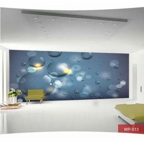 3D Bubbles Dining Room Wallpaper