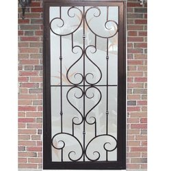 Polished Iron Window Grill, For Home, Rectangle