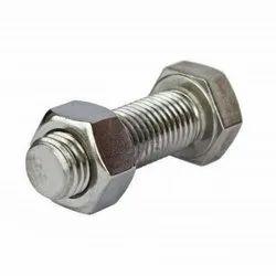 Full Thread Stainless Steel Nut Bolt, Material Grade: SS304