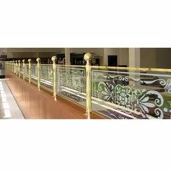 Brass Glass Railing