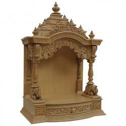 Brown Handcrafted Wooden Temple