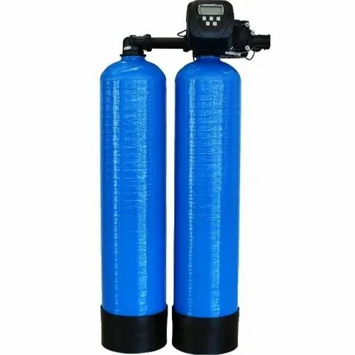 Blue 150 L Industrial Water Softener, Vertical, Automation Grade: Automatic