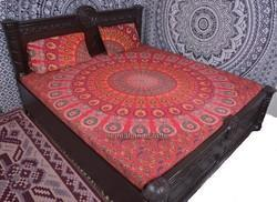 Red Mandala Duvet Cover