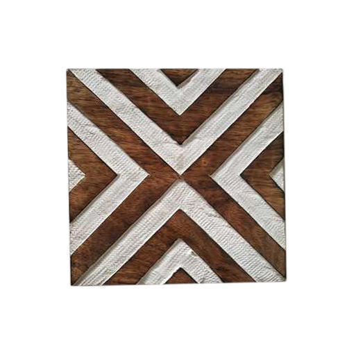 Geometric Wooden Kitchen Trivet