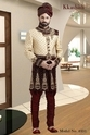 M And Xxl Embroidered Exclusive Wedding Sherwani