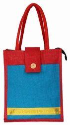 Jute Designer Flap Bag