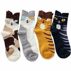 Camey Multicolor Designer Baby Socks, Size: Small, Age: 2-3yr