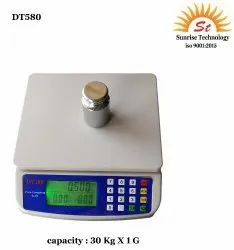 Lcd 2*1.5v DT-580 PRC Scale 30 Kg X 1 G, Accuracy: 1 Gm