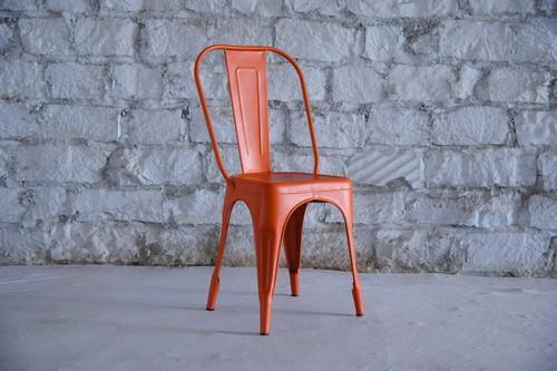 Gemini Krafts Orange Tolix Cafe Chair & Gemini Krafts Orange Tolix Cafe Chair Rs 1450 /piece Gemini Krafts ...