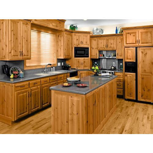 Wooden And Particle Board Brown Kitchen Cabinet Rs 1200 Square Feet Id 17095440591