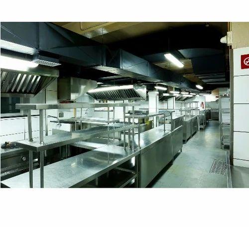 Raunak Kitchen Silver Ss Main Kitchen