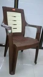 Brown High Back Plastic Chair for Outdoor