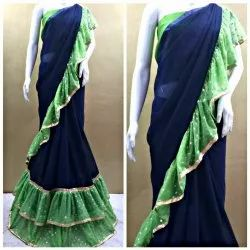 Trendy Ruffel Design Saree